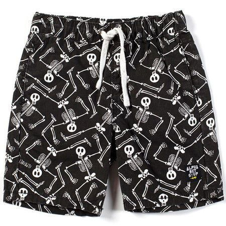 Alphabet Soup Bones Shorts